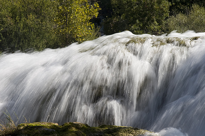 Krka folyó vízesése