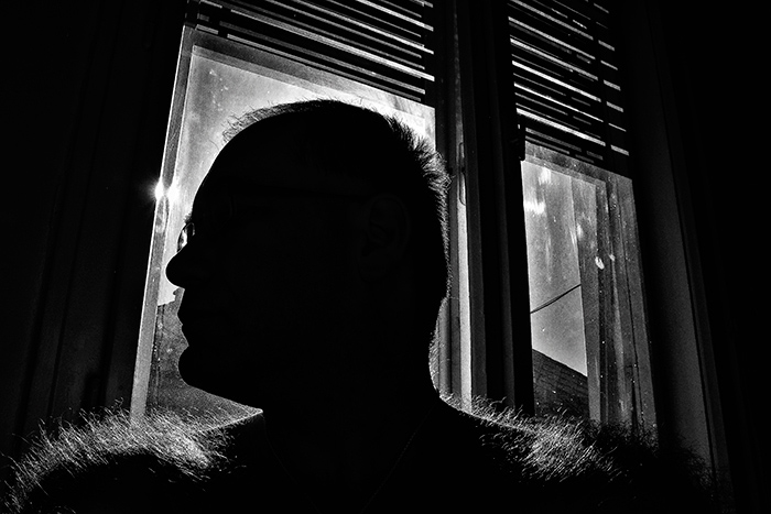 önportré a Nappal szemben a konyhaablakban