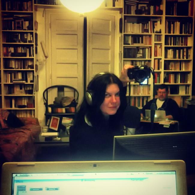 Ági a stúdióban