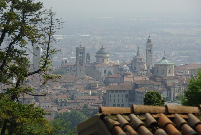 Bergamo San Vigilio felől