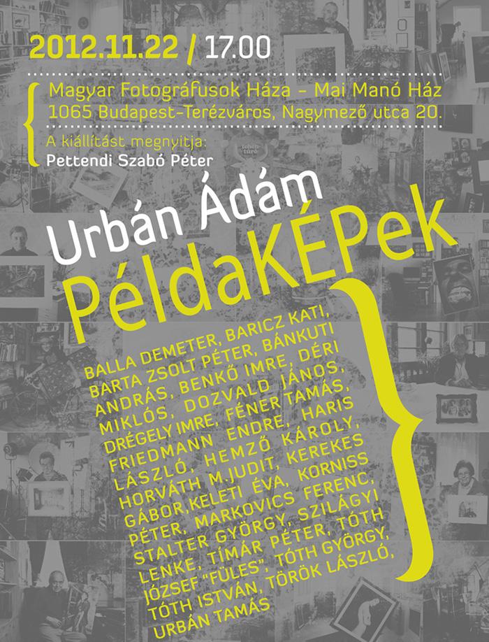 PéldaKépek - Urbán Ádám kiállítása