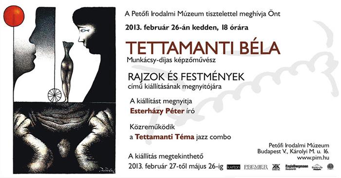 Rajzok és festmények - Tettamanti kiállítás