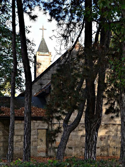 A templom háta mögött