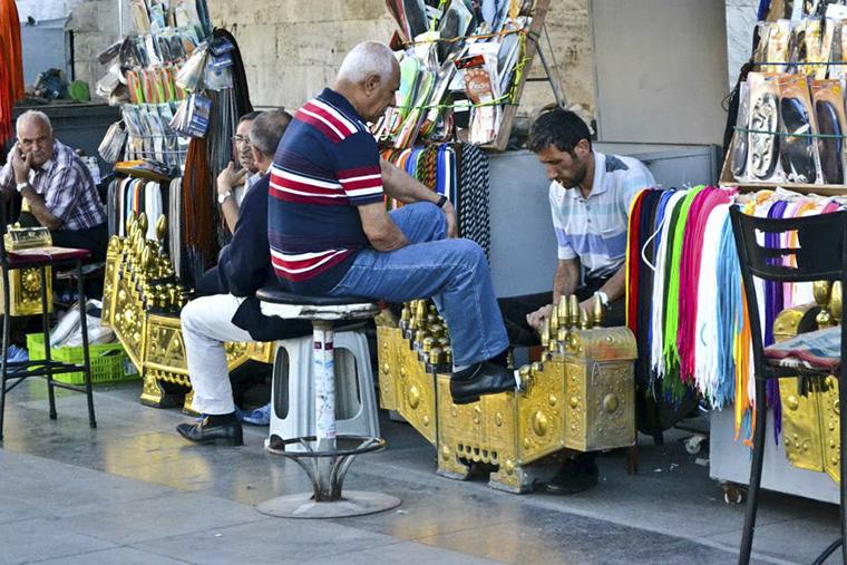 Istanbul - cipőtisztítók