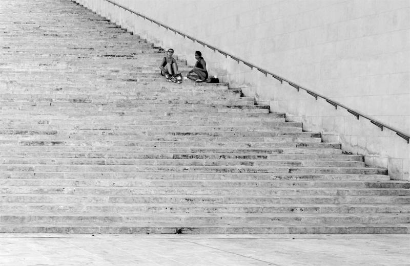 Lépcsőn