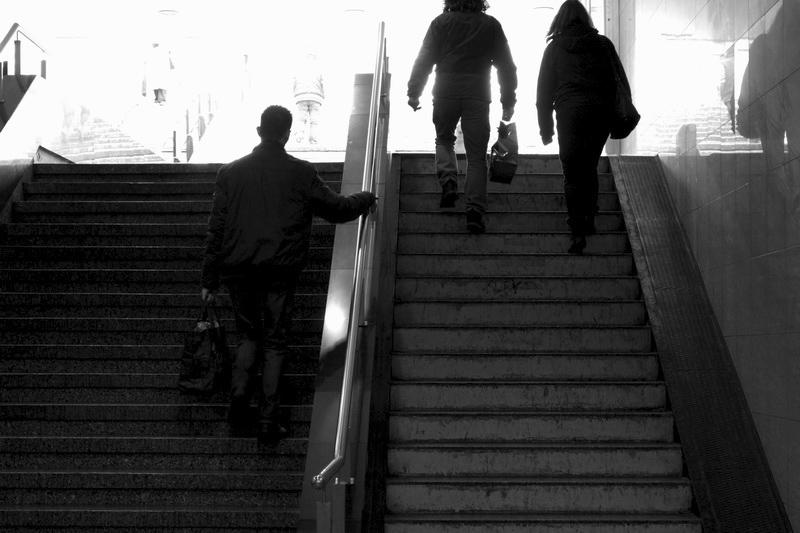 Lépcsőn mozgók