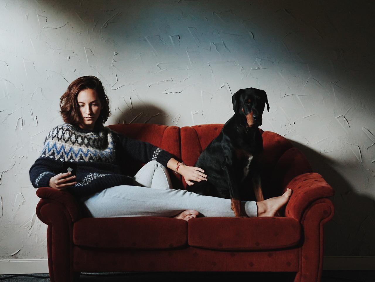 Önarckép kutyával