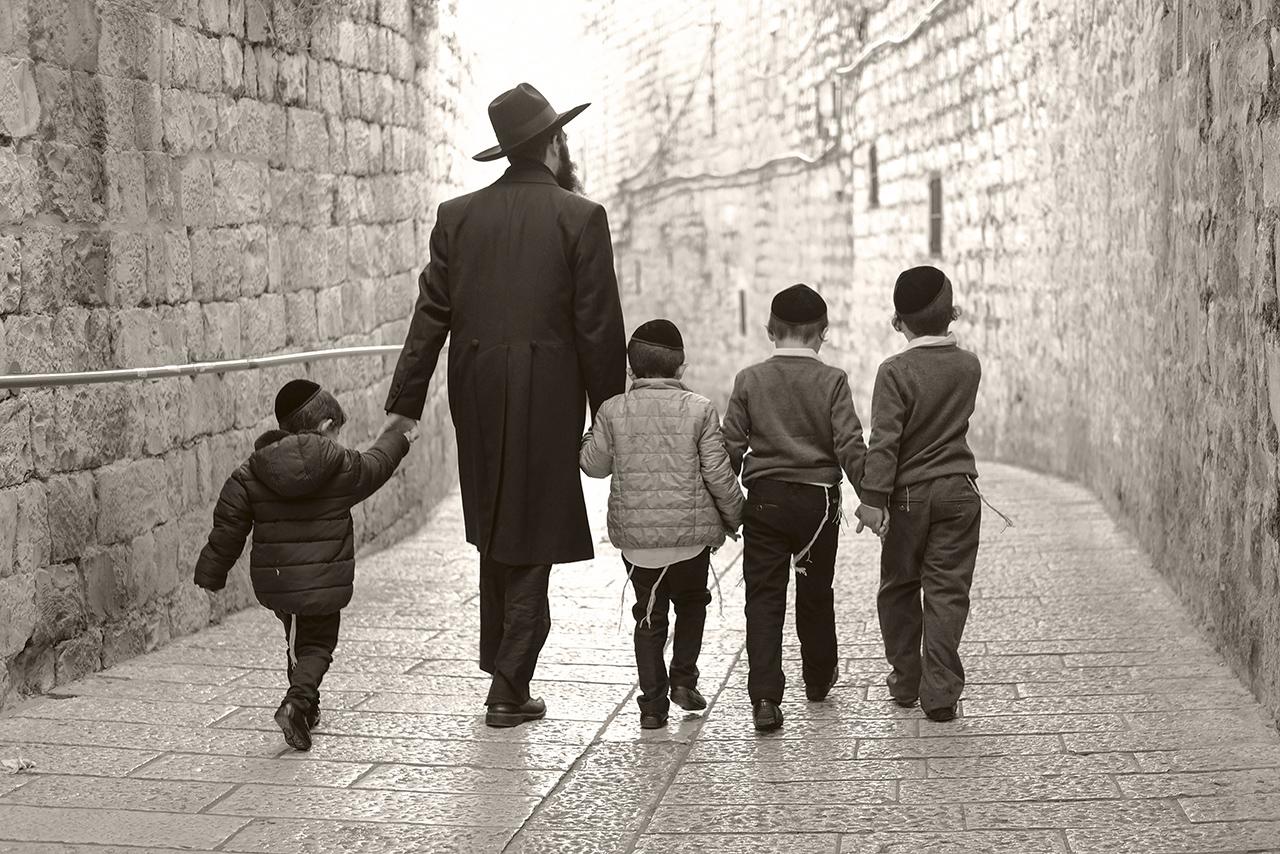 Ortodox család Jeruzsálemben