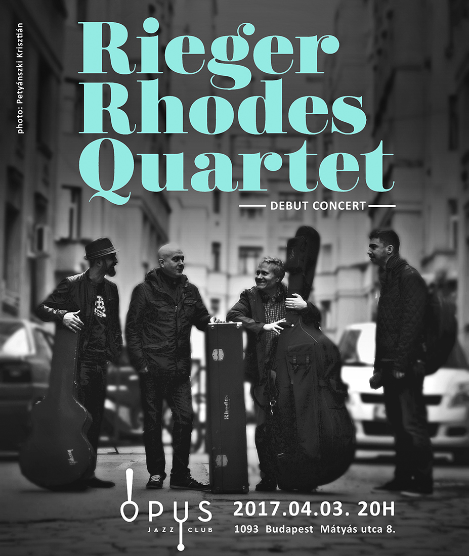 Rieger Rhodes Quartet koncert meghívó