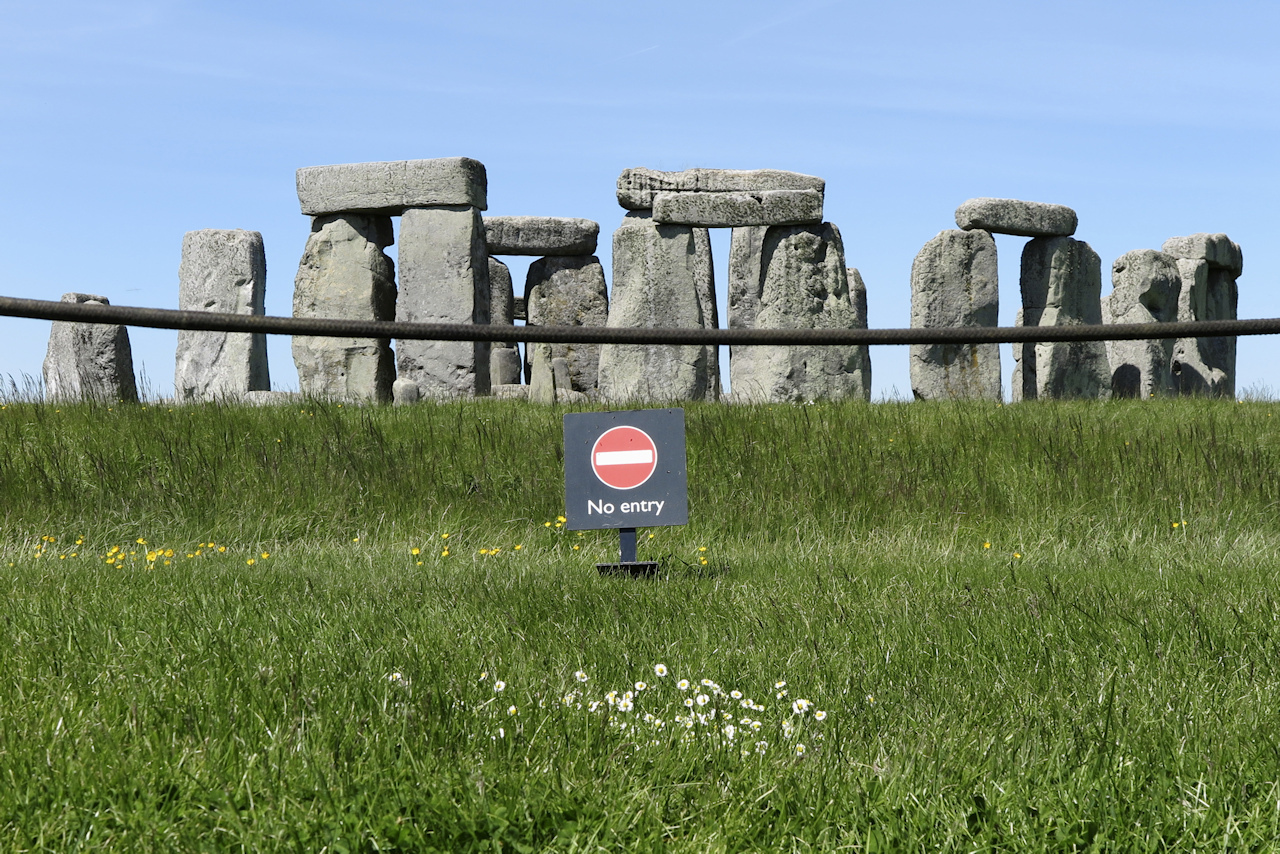 Stonehenge-i turistafotók
