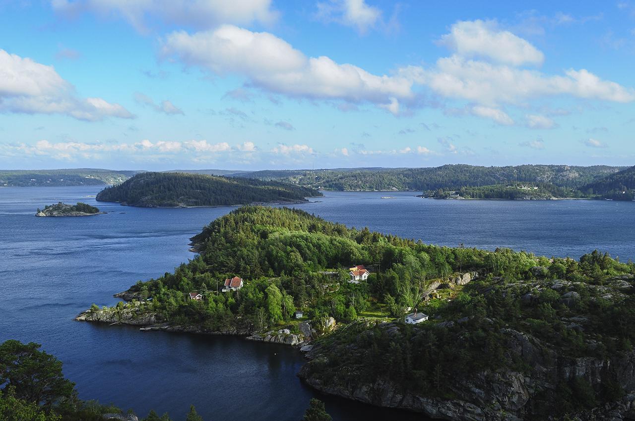 Délután a fjord felett