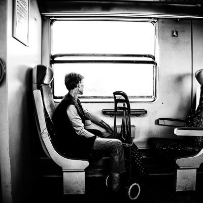 A vonaton hazafelé