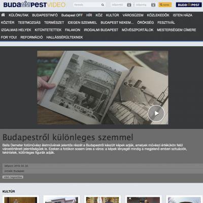 Budapestről, különleges szemmel - rövidfilm Balla Demeterről