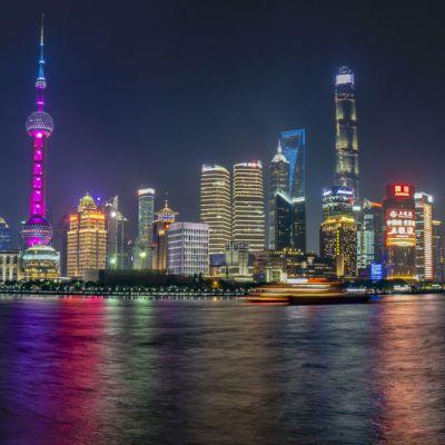 Shanghai esti panoráma