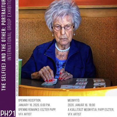 Portré - csoportos kiállítás meghívó